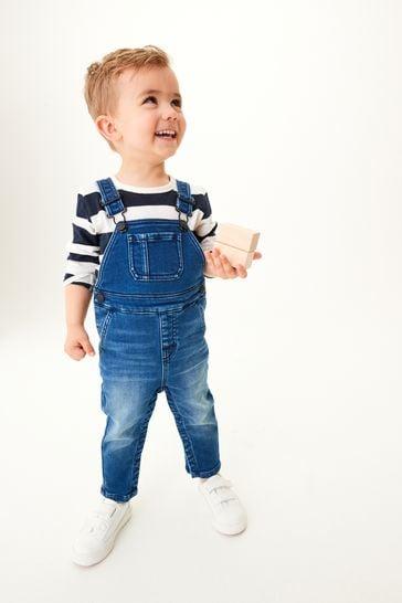 Blue 4 Pack Long Sleeve T-Shirts (3mths-7yrs)
