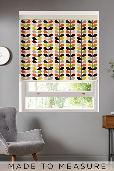 Multi Stem Tomato Cream Made To Measure Roller Blind by Orla Kiely