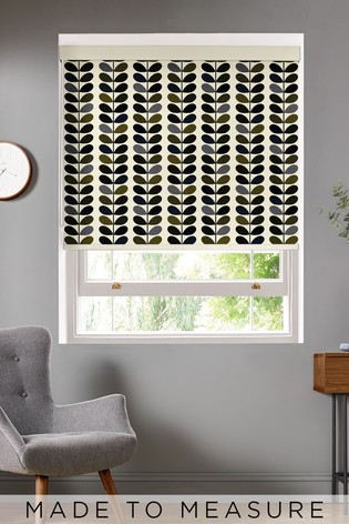 Multi Stem Moss Green Made To Measure Roller Blind by Orla Kiely