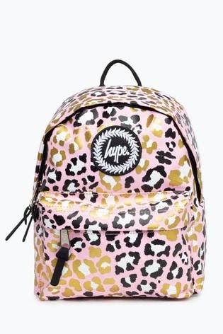 Hype. Pink Leopard Mini Backpack