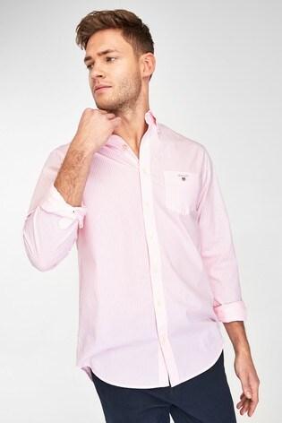 GANT Pink Regular Broadcloth Banker Shirt