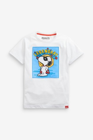 White Snoopy T-Shirt (3mths-8yrs)
