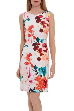 Gina Bacconi Orange Salma Floral Sheath Dress