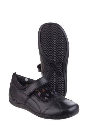 Hush Puppies Black Cindy Junior School Shoes