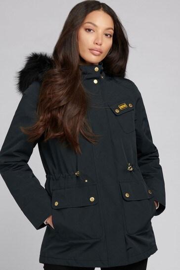 Barbour® International Black Waterproof Wanneroo Rain Jacket