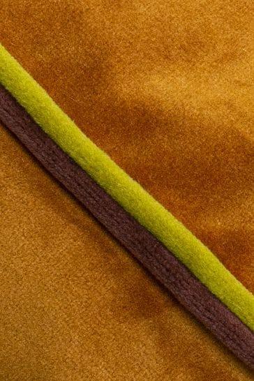 Furn Orange Gemini Double Piped Edge Cushion