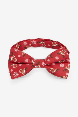 Red Rudolph Bow Tie