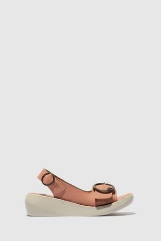 Fly London Slingback Open Toe Sandals
