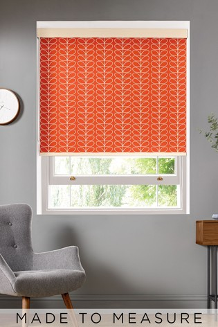 Linear Stem Tomato Red Made To Measure Roller Blind by Orla Kiely