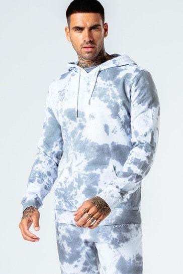 Hype. Mens Mono Tie Dye Pullover Hoody