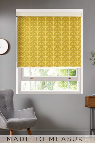 Linear Stem Dandelion Yellow Made To Measure Roller Blind by Orla Kiely