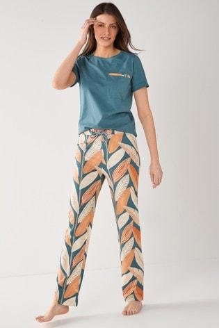 Blue Hikkaduwa Scion At Next Blue Floral Cotton Pyjamas