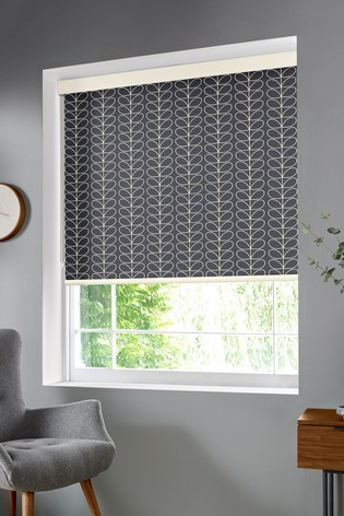 Linear Stem Cool Grey Made To Measure Roller Blind by Orla Kiely