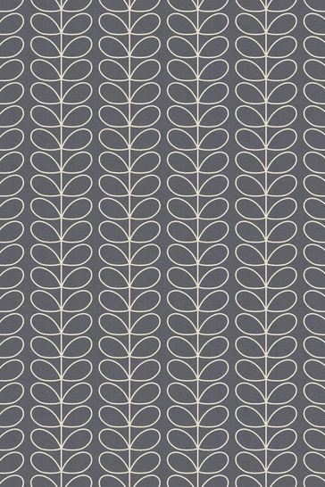 Orla Kiely Grey Linear Stem Made To Measure Roller Blind