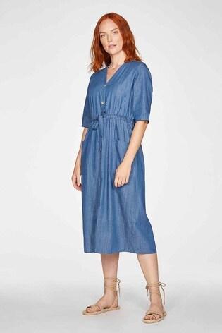 Thought Blue Esther Tie Waist Dress