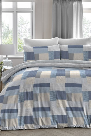 Boheme Square Geo Duvet Cover and Pillowcase Set by D&D