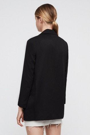 AllSaints Black Aleida Blazer