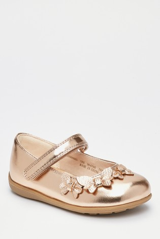 Rose Gold Butterfly Mary Jane Shoes (Younger)