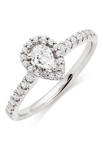 Beaverbrooks 18ct Diamond Halo Ring