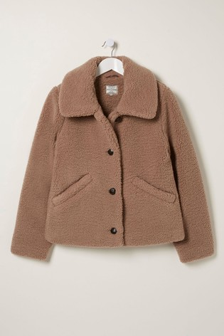 FatFace Natural Alice Teddy Jacket