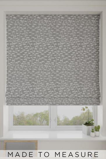 Coraline Silver Grey Made To Measure Roman Blind