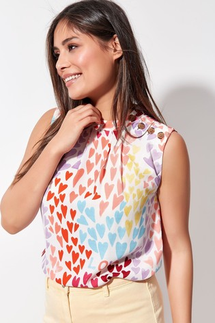 Khost Pink Printed Shell Top