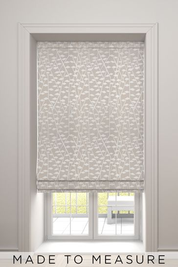 Coraline Linen Pink Made To Measure Roman Blind
