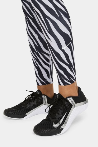 Nike The One Purple 7/8 All Over Printed Icon Clash Leggings