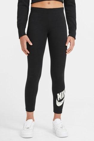 Nike Black Zebra Print Swoosh Leggings