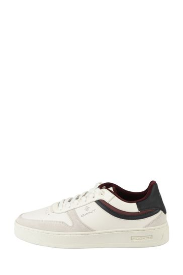 GANT White Detroit Low Lace Shoes
