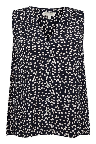 Monsoon Blue Dulce Spot Print Sustainable Top