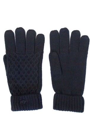 Raging Bull Blue Cable Knit Gloves