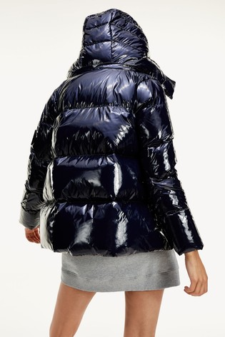 Tommy Hilfiger Blue High Gloss Down Padded Jacket