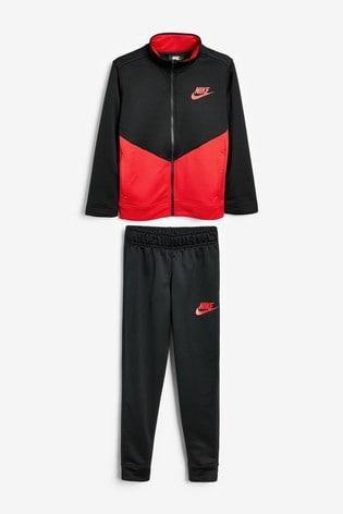 Nike Red/Black Tracksuit