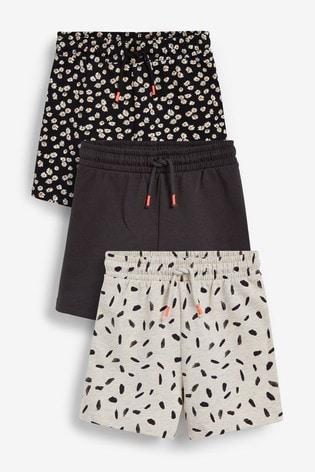 Monochrome 3 Pack Cotton Jersey Shorts (3-16yrs)