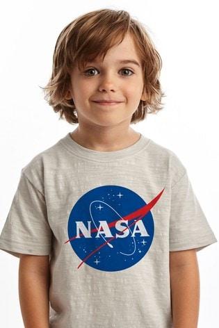 Fabric Flavours Silver NASA Meatball Logo T-Shirt
