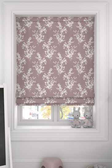 Purple Middleton Mulberry Made To Measure Roman Blind