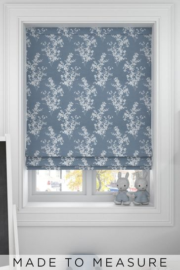 Blue Middleton Made To Measure Roman Blind