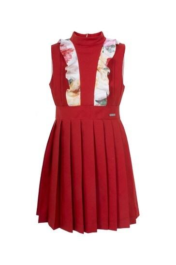 Girls Red Amelia Dress