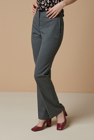 Grey Marl Tailored Boot Cut Trousers