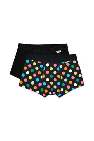 Happy Socks Black Multi Trunks Two Pack