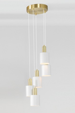 Biba White And Gold Five Drop Pendant by Pacific