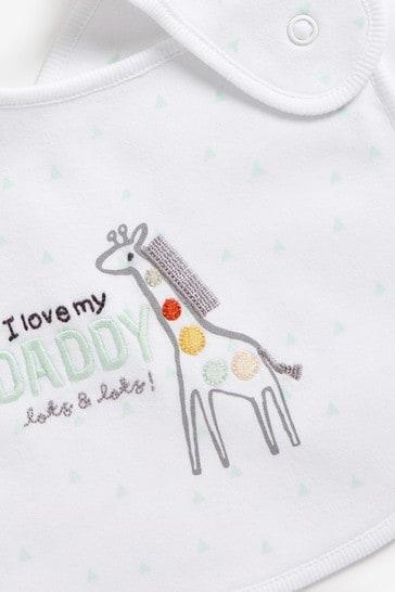 Daddy Giraffe 2 Pack Regular Bibs