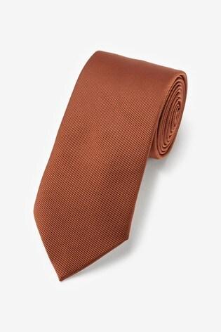 Rust Regular Twill Tie