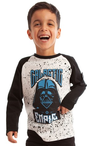 Fabric Flavours White Star Wars™ Galactic Empire Long Sleeve T-Shirt