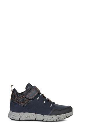 Geox Junior Boy/Unisex Flexyper Navy/Orange Boots