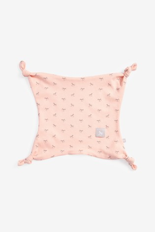 The Little Tailor Pink All Over Print Rocking Horse Jersey Comforter