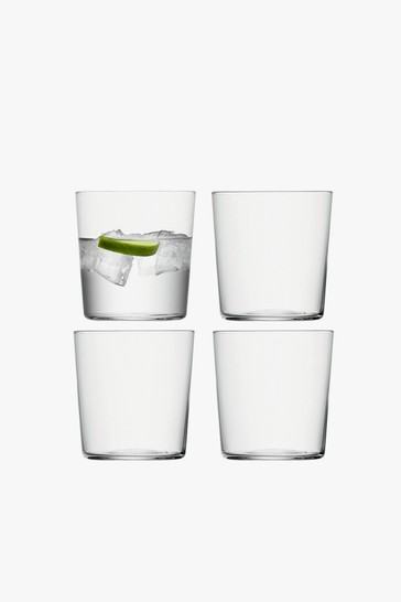Set of 4 LSA International Gio Tumbler Glasses
