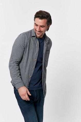 M&Co Men Blue Gingham Shirt