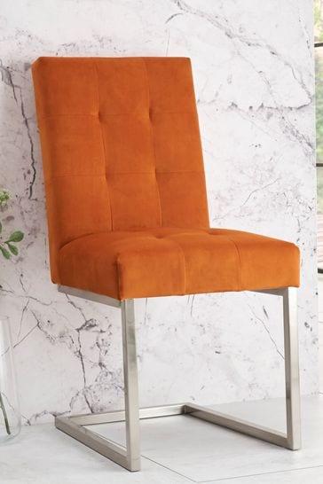 Set of 2 Opus Tivoli Cantilever Chair Pumpkin by Bentley Designs